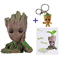 ZOYITO Baby Groot Vaso di Fiori Marvel Action Figure dei Guardiani della Galassia per Piante e Penne Perfetto Come Regalo Action Figures Toy Gift Utilizzabile Anche Come portapenne