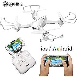 Drone avec caméra EACHINE E32HW FPV WiFi caméra 720P HD, Drone résiste au Vent Fort, Quadcopter avec Camera