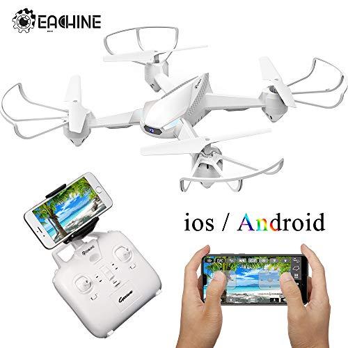 EACHINE E32HW Drone con HD cámara 720p 2.0MP Drone Cámara WiFi FPV App Control Modo sin Cabeza Quadcopter (Blanco)