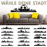 Grandora W5153 Wandtattoo Skyline Istanbul I 140 x 30 cm schwarz I selbstklebend Stadt Städte der Welt Wandaufkleber Aufkleber Wandsticker