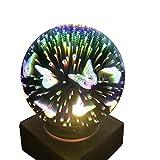 3d mágica mariposa luz, amamary Multicolor romántica USB LED de carga Luz Hogar Fiesta Decoración