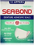 Sea Bond uppers denture adhesive wafers, fresh mint - 30 ea