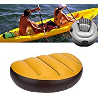 2pcs Asiento inflable asiento de kayak, Kayak Canoa asiento de barco Cojín Cojín de kayak cómodo Cojín impermeable asiento de aire de PVC inflable para acampar al aire libre Cojín de canoa