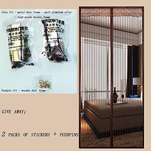 SDYBCHUANGLIAN Magnet Fliegengitter Tür Balkontür Anti Mosquito Insekt Hände Frei Magnetvorhang Für Die Balkontür Kellertür Und Terrassentür Kinderleichte Klebemontage Ohne Bohren
