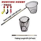 #3: Fishing Landing Net,Round Folding, Extention 5.6Feet Rod