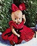 DOLL IN A RED DRESS - Vintage 1951 Crochet Pattern (ePattern)