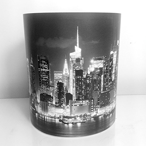 Horizon de Manhattan, New York, USA Noir et blanc Abat-jour