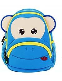 Impermeable Cute Cartoon Animal Zoo Mono niños, niñas, niños bebé infantil Back Pack alumno escuela libro dinero…