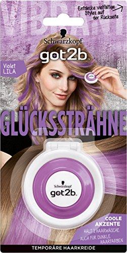 Schwarzkopf Got2b Glückssträhne Haarfarbe, Violet Lila, 2er Pack (2 x 4 g)