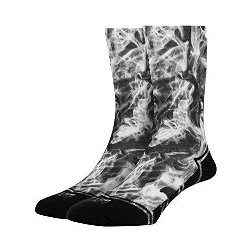 Preisvergleich Produktbild LUF SOX Classics Black Dust - Socken für Damen und Herren, Unisex-Größe 36-40 und 41-46, mehrfarbig, Ferse und Fußspitze leicht gepolstert