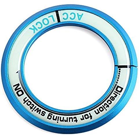 Anillo de llave luminoso tapa del interruptor sticker-fit Subaru Toyota Kia Nissan Hyundai Car Styling