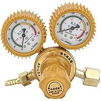 Hilitand Regulador de latón Calibre 2 Reductor de presión de oxígeno 0-25MPa para Soldadura, Corte, Industria química, Medicina y Salud, Industria electrónica