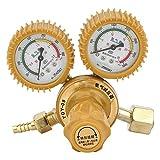 Riduttore di pressione dell'ossigeno del regolatore di ottone di 2 calibri 0-25MPa per la saldatura, il taglio, l'industria chimica, medico e salute, industria elettronica