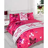 Just Contempo Butterfly 5pc Bed in a Bag Duvet Set, King, Pink