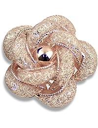 Merdia Fashinable et raffinée broche creuse Breastpin avec rose couleur or pour les filles dames et les femmes