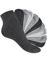 Footstar Original SNEAK IT! Kurzschaft Sneaker Socken für Sie und Ihn - 10 Paar - trendige Farben - Größen 35-50 - von celodoro
