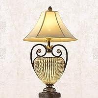 ZYCkeji Zart Wohnzimmer Lampe Schlafzimmer Nachttischlampe Eisen Retro Lampe Kristall Lampe Luxus Tischlampe dekorative... preisvergleich bei billige-tabletten.eu