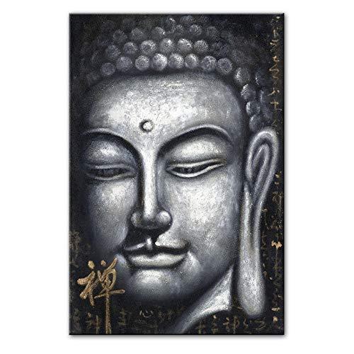 Vintage Splitter Buddha Ölgemälde Druck Auf Leinwand Kunstdrucke Chinesischen Stil Buddhismus Leinwand Kunstdrucke Wandbilder Wohnkultur / 60x90 cm-Kein Rahmen