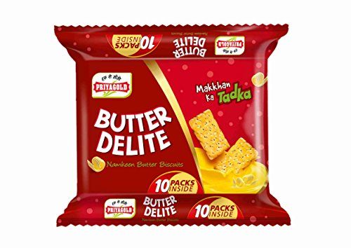 Priyagold Butter Delite Namkeen Butter Biscuits, 500g (Pack of 10)