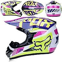 4fab0815dfee5 CFYBAO Adulto Motocross Casco Gafas De Regalo Máscara Guantes Fox Moto  Racing Casco Completo Cara para