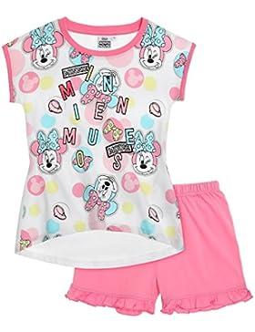 Disney Minnie Mädchen Shorty-Pyjama 2016 Kollektion - weiß