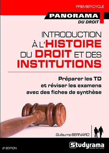 Introduction à l'histoire du droit et des institutions