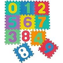 kraftz® Niños espuma EVA suave multicolor números 10pcs de enclavamiento Juego Jigsaw Puzzle actividad alfombra piso azulejos