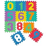 KRAFTZ® Kids Soft Eva Foam Multicolor Numbers 10 PCS Interlocking Set Jigsaw Puzzle Activity Playmat Floor Tiles