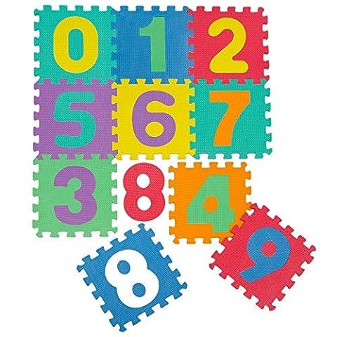 kraftz® Kids Soft EVA-Schaum Multicolor Zahlen 10PCS Interlocking Set Puzzle Aktivität Spielmatte Boden