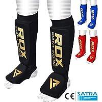 RDX Boxe Protège Tibia Pied MMA Cheville Kick Boxing Karate (CE Certifié Approuvé par SATRA)