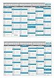 Tafelkalender 2019 Set (5 Stück) DIN A4 (210 x 297 mm) 300g BD Papier, sehr gut beschreibbar + Ferientermine aller Bundesländer