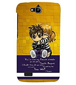 PRINTSHOPPII LOVE Back Case Cover for Huawei Honor Holly::Honor Holly