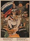 World of Art Propaganda-Poster, Vintage-Stil,Jeder zehnte Arbeiter und Bauer (auf Russisch), von 1919, 250 g/m², Hochglanzkarton, A3, Nachdruck