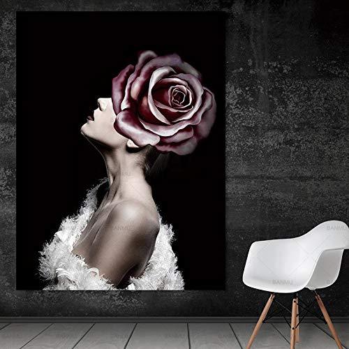RTCKF Marilyn Monroe Pittura su Tela Wall Art Immagine Stampa Decorazione della casa Poster da Parete Decorazione Soggiorno (Senza Cornice) A4 30x40 CM