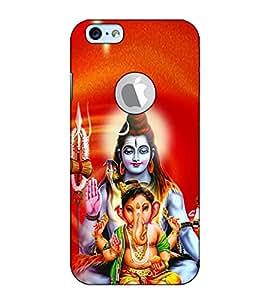 Fuson Designer Back Case Cover for Apple iPhone 6S (Logo View Window Case) (Shri Shankar and ganesh )