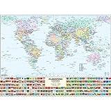 Carta Geografica Mondo Fisico/Politica