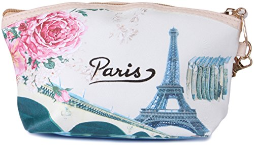 UberLyfe Vintage Eiffel Tower Multipurpose Pouch or Purse for Women - L (PU-001037-L)