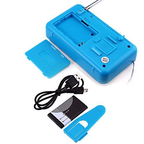 iMinker Mini-Digital-beweglicher FM Radio-Mittel-Lautsprecher MP3-Musik-Spieler TF / SD Karte Usb-Scheiben-Hafen für PC iPod-Telefon mit LED-Anzeige und Akku (Blau) - 7