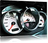 Elegante Porsche Amaturen Bild auf Leinwand, XXL riesige Bilder fertig gerahmt mit Keilrahmen, Kunstdruck auf Wandbild mit Rahmen, günstiger als Gemälde oder Ölbild, kein Poster oder Plakat, Format:60x40 cm