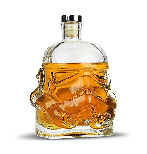 Monsterzeug Stormtrooper Whisky Karaffe, Whiskey Gefäß, Karaffe aus Glas mit Korkenverschluss -...