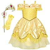 Sunny-fashion Prinzessin Belle Kleid Up Zubehör Crown Magic Zauberstab Alter 4–12 Jahre