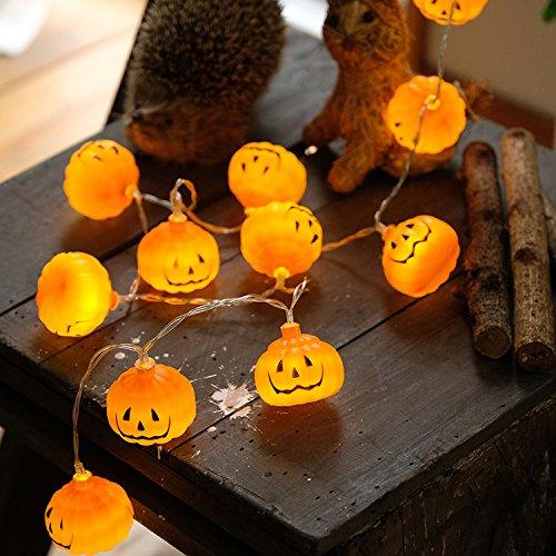 Feicuan Pumpkins Battery Powered String Lights Warm White Twinkle LED Fairy Halloween DIY Festival Fiesta decoración -3M 30 LED Bulb