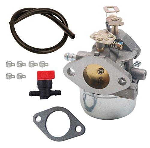 OxoxO 640349 Carburetor With Fuel Line Shut Off Valve for Tecumseh HMSK80 HMSK85 HMSK90 HMSK100 Snow blower Replace 640052 640054 50-659