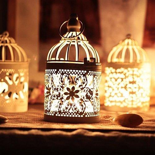 arokkanischer Stil Hängende Laterne Hollow Kerzenständer Home Decor Dekoration für drinnen und draußen ()