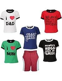 Gkidz Boys Pack of 5 Half Sleeve T-Shirts and Bermudas (JB5PCKMND-1_N_BER-002_Multi Color)