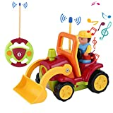 Best Toys Two Year Old Boys - OCDAY Remote Control Car Toy Cartoon Engineering Vehicle Review