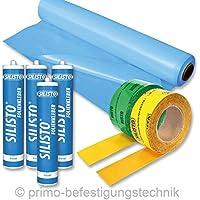 100m² Dampfbremse Dampfbremsenpaket + 2x Klebeband + 4 x Folienkleber 890P518160