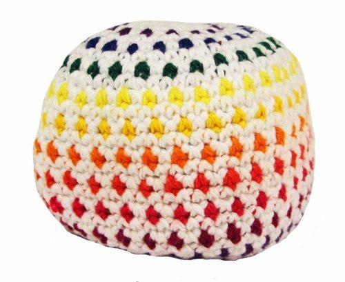 hacky-sack-sacco-impermeabile-motivo-a-pois-colore-bianco