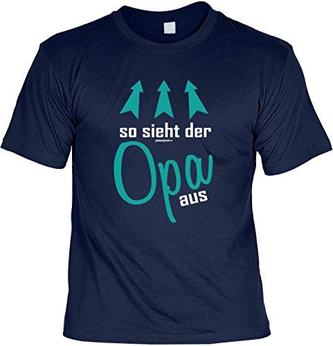 T-Shirt - So sieht der Opa aus - cooles Shirt mit lustigem Spruch als Geschenk für Opa Navyblau