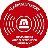 Aufkleber Alarmgesichert 5cm (Rund)